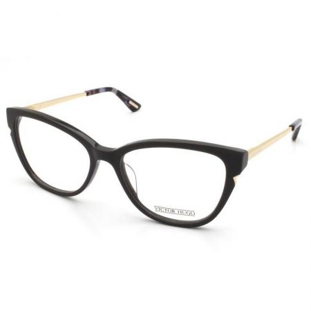 Armação Óculos Victor Hugo Vh1806 0aau 53 Cinza Escuro Dourado