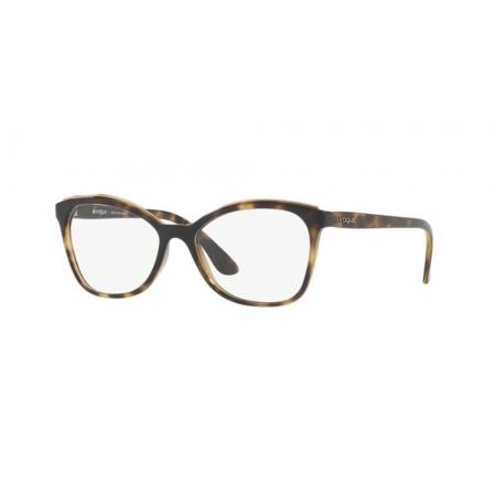 Armação Óculos Vogue Vo5160l W656 54 Marrom Havana Brilho