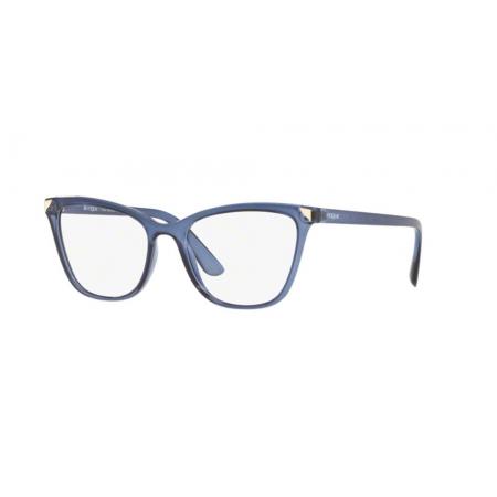 Armação Óculos Vogue Vo5206l 2762 53 Azul Translucido