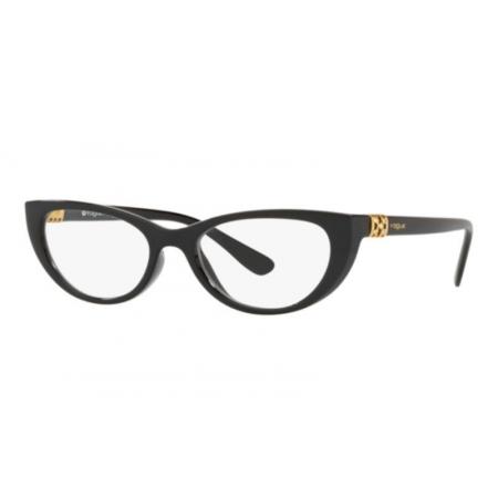 Armação Óculos Vogue Vo5240b W44 53 Preto Brilho