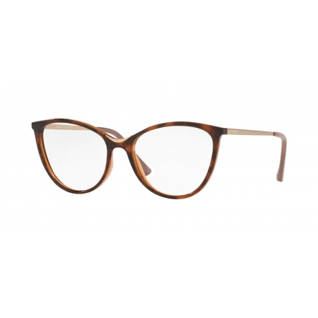 Armação Óculos Vogue Vo5320l 2386 52 Marrom Havana Brilho
