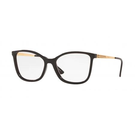 Armação Óculos Vogue Vo5334l W44 54 Preto Dourado Brilho