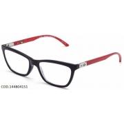 Armação Para Oculos De Grau Mormaii Mares 144804151- Preto Vermelho