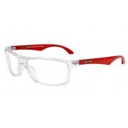 Armação Para Oculos De Grau Mormaii Terral 140018757 - TRANSPARENTE COM HASTES EM VERMELHO