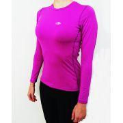 Camiseta Mormaii Feminina Manga Longa Body Fit Proteção UV Purpura S508UVBFF