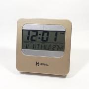 Despertador Digital Herweg 2974 067 Champanhe Metalico