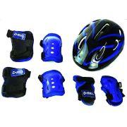 Kit Proteção Para Skate Bike Bel Joelheira Capacete Tamanho M Azul 411202