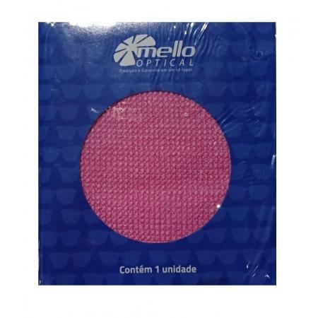 Lenço Limpeza Óculos Celular Tablet Mello 15x15cm Rosa