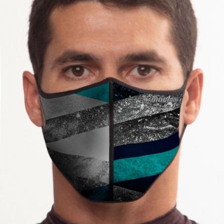 Máscara De Proteção Neoprene Mormaii Lavável Estampado Preto