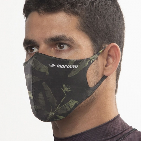 Máscara De Proteção Neoprene Mormaii Lavável Verde Estampada