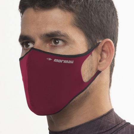 Máscara De Proteção Neoprene Mormaii Lavável Vermelho Escuro