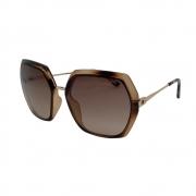 Óculos Solar Atitude  At5438n G21 Marrom Translúcido Tartaruga Lente Degradê Marrom