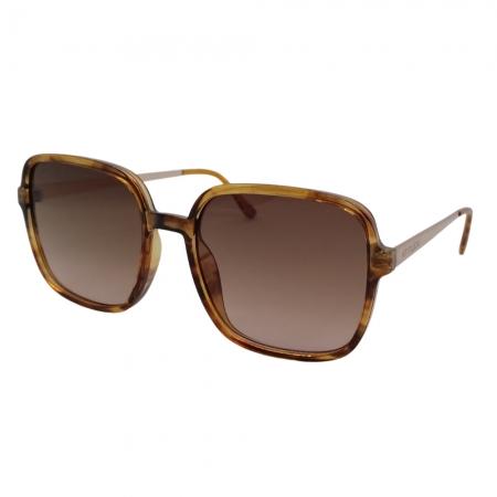 Óculos Solar Atitude  At8035 G21 Marrom Translúcido Tartaruga Lente Degradê Marrom