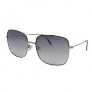 Óculos Solar Atitude  At8064 02a Cinza Brilho  Lente Degradê Cinza