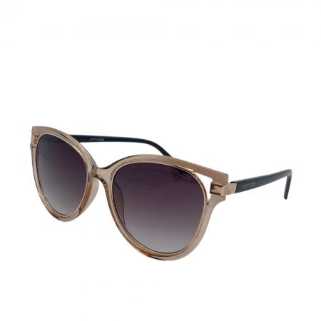 Óculos Solar Atitude  At8065 J01 Creme Translúcido  Lente Degradê Cinza