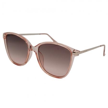 Óculos Solar Atitude  At8069 K01 Rosa Translúcido  Lente Degradê Marrom