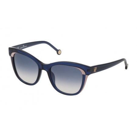 Óculos Solar Carolina Herrera She787 0agq 52 Azul Lente Azul Degradê