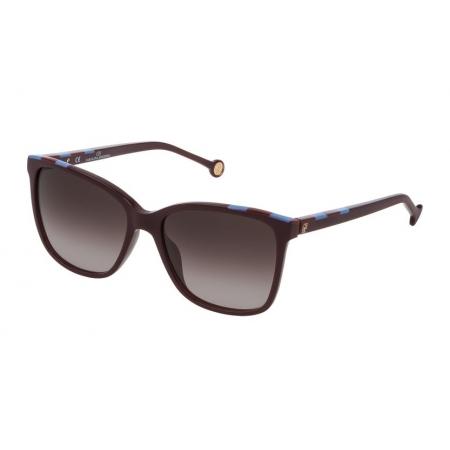 Óculos Solar Carolina Herrera She795 09fd 57 Roxo Lente Marrom Degradê