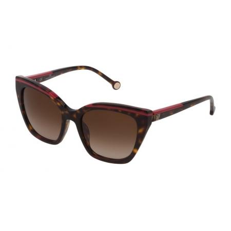 Óculos Solar Carolina Herrera She832 0722 54 Marrom Tartaruga Lente Marrom Degradê