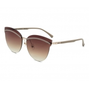 Oculos Solar Colcci C0136e4634 Dourado Brilho Lente Marrom Degradê