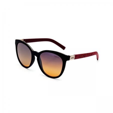 Óculos Solar Colcci Nina C0070acu21 Preto Fosco Lente Degradê Laranja