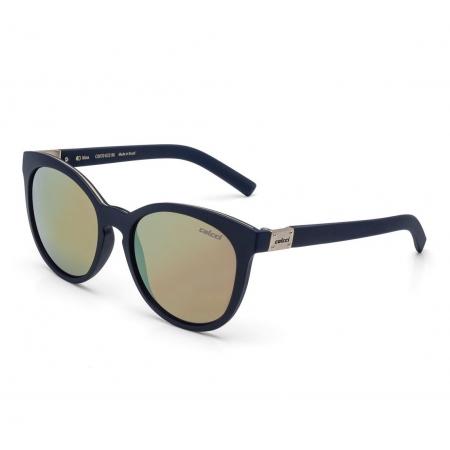 Óculos Solar Colcci Nina C0070k3396 Azul Fosco  Lente Espelhada Dourado