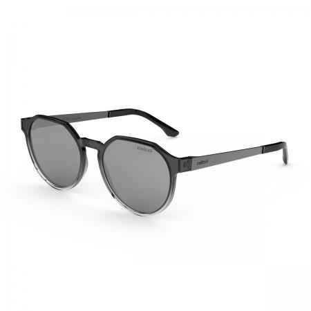 Óculos Solar Colcci Noa C0185dk909 Fumê Translúcido Degradê Lente Espelhada Cinza