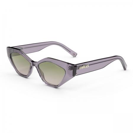 Óculos Solar Colcci Soho C0201c84a8 Roxo Translúcido  Lente Degradê Verde