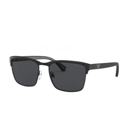Óculos Solar Emporio Armani Ea2087 301487 56 Preto Fosco Lente Cinza