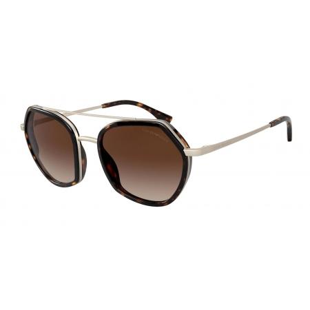 Óculos Solar Emporio Armani Ea2098 300213 53 Marrom Havana Lente Marrom Degradê