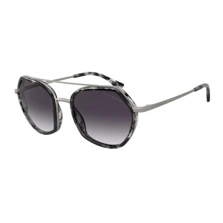 Óculos Solar Emporio Armani Ea2098 30038g 53 Cinza Havana Lente Cinza Degradê