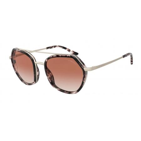 Óculos Solar Emporio Armani Ea2098 331113 53 Rosa Havana Lente Rosa Degradê