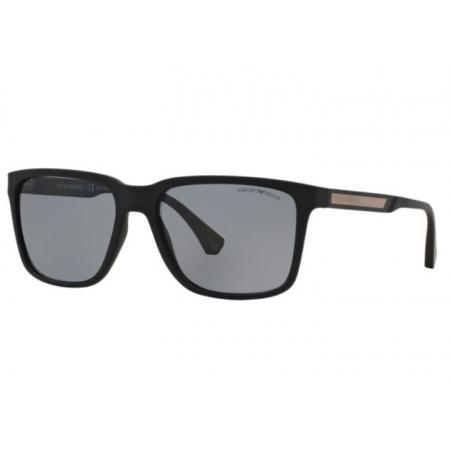 Óculos Solar Emporio Armani Ea4047 506381 56 Preto Fosco Lente Cinza Polarizada