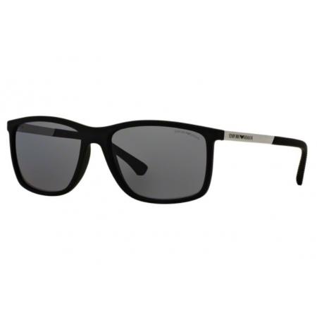 Óculos Solar Emporio Armani Ea4058 506381 58 Preto Fosco Lente Cinza Polarizada