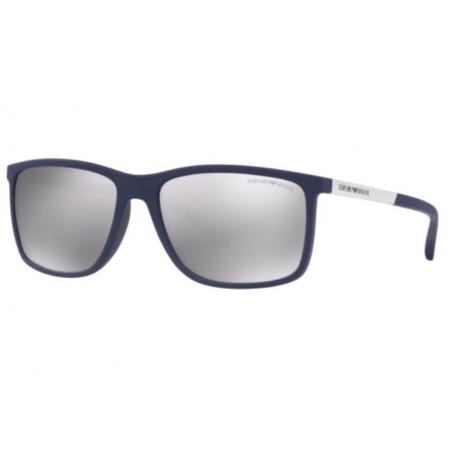 Óculos Solar Emporio Armani Ea4058 57596g 58 Azul Fosco Lente Prata Espelhada