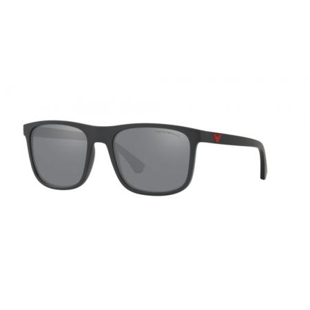 Óculos Solar Emporio Armani Ea4129 50016g 56 Preto Fosco Lente Cinza Espelhada