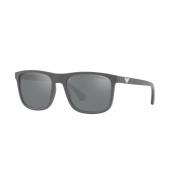Óculos Solar Emporio Armani Ea4129 58006g 56 Cinza Fosco Lente Cinza Espelhada