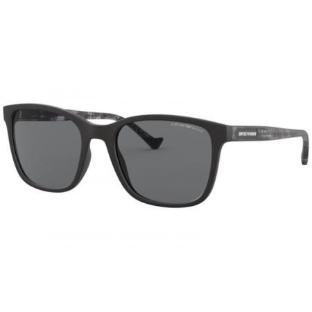 Óculos Solar Emporio Armani Ea4139 501781 54 Preto Fosco Lente Cinza Polarizada