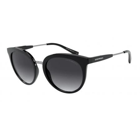Óculos Solar Emporio Armani Ea4145 50018g 53 Preto Lente Cinza Degradê