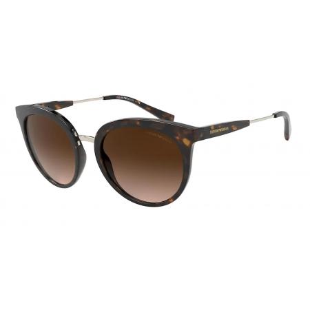 Óculos Solar Emporio Armani Ea4145 508913 53 Marrom Havana Lente Marrom Degradê
