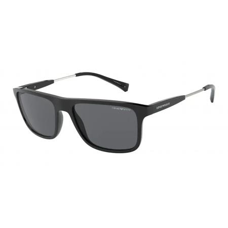 Óculos Solar Emporio Armani Ea4151 500187 56 Preto Lente Cinza