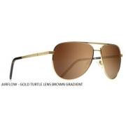 Oculos Solar Evoke Airflow Large Gold Turtle Brown Gradient