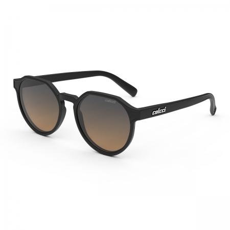 Óculos Solar Infantil Colcci Noa Fun C0205a1421 Preto Fosco  Lente Degradê Laranja