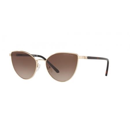 Óculos Solar Michael Kors Arrowhead Mk1052 101413 57 Dourado Lente Marrom Degradê