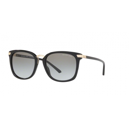 Óculos Solar Michael Kors Cape Elizabeth Mk2097 300511 54 Preto Brilho Lente Cinza Degradê