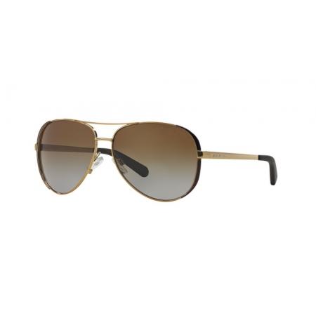 Óculos Solar Michael Kors Chelsea Mk5004 1014t5 59 Dourado Lente Marrom Degradê Polarizado