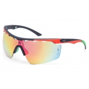 Óculos Solar Mormaii Athlon 4 M0042AAB11 Preto e Laranja Lente Flash Vermelho