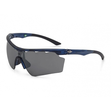 Óculos Solar Mormaii Athlon 5 M0063k7109 Azul Lente Cinza Flash Prata