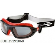 Óculos Solar Mormaii Floater 25191068 Preto Fosco e Vermelho Lente Cinza Polarizada
