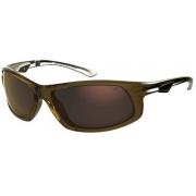 Oculos Sol Mormaii Guara 43550596 Marrom Translucido Lente Dourada Espelhada